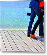 Benodet Boardwalk Metal Print