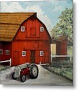 Bens Barn Metal Print by Kendra Sorum