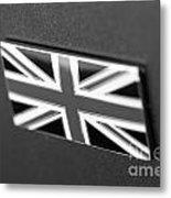 Bentley Badge In Black Metal Print