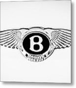 Bentley Emblem -0082c Metal Print