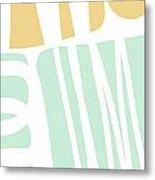 Bento 1- Abstract Shape Painting Metal Print