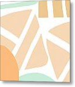 Bento 3- Abstract Shapes Art Metal Print