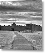 Bents Old Fort - Bw Metal Print