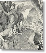 Beowulf Finds The Head Of Aschere Metal Print