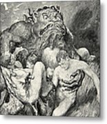 Beowulf Print Metal Print by John Henry Frederick Bacon