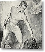 Beowulf Shears Off The Head Of Grendel Metal Print by John Henry Frederick Bacon
