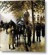Beraud, Jean 1849-1935. The Boulevards Metal Print by Everett