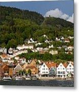 Bergen Harbor Metal Print