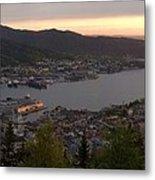 Bergen Sunset Panorama Metal Print