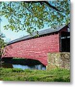 Berks Courty Pa - Griesemer's Covered Bridge Metal Print