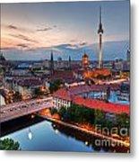 Berlin Germany Major Landmarks At Sunset Metal Print