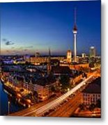 Berlin Skyline Panorama Metal Print by Jean Claude Castor
