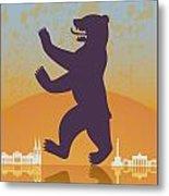 Berlin Vintage Poster Metal Print