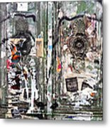 Berlin Walls-green Doors Metal Print