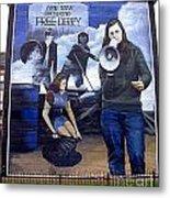 Bernadette Devlin Mural Metal Print