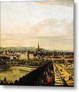Bernardo Bellotto Wien Vom Belvedere Aus Gesehen 1758 1761 Metal Print