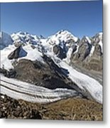Bernina Mountains, Switzerland Metal Print by Science Photo Library