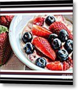 Berries And Yogurt Intense - Food - Kitchen Metal Print