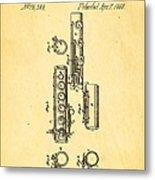 Berteling Flute Patent Art 1868 Metal Print