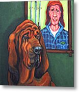 Bloodhound - Bervil And Blue Metal Print