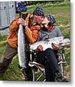 Besame Mucho . Salmon Love Story. Metal Print by  Andrzej Goszcz