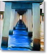 Beside The Cool Blue Waters Metal Print