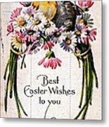 Best Easter Wishes To You 1909 Vintage Postcard Metal Print