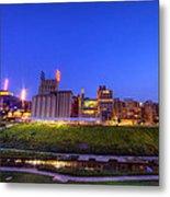 Best Minneapolis Skyline At Night Blue Hour Metal Print