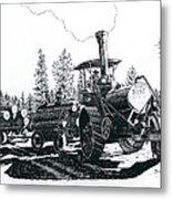 Best Steam Traction Engine Metal Print