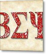 Beta Sigma Psi - Parchment Metal Print