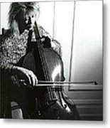Beth And Oiled Cello Metal Print