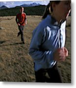Beth Rodden And Tommy Caldwell Get Metal Print