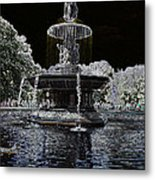 Bethesda Fountain Abstract Metal Print