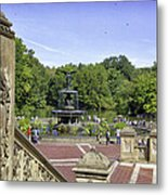 Bethesda Fountain V - Central Park Metal Print