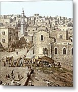 Bethlehem Manger Square 1900 Metal Print