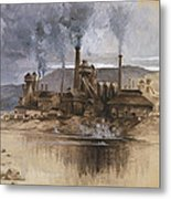 Bethlehem Steel Corporation Circa 1881 Metal Print by Aged Pixel