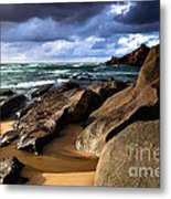 Between Rocks And Water Metal Print