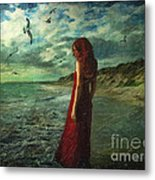 Between Sea And Shore Metal Print