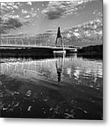 Between Sky River And Two Coasts Metal Print