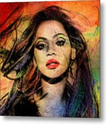 Beyonce Metal Print by Mark Ashkenazi