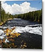 Beyond The Falls Metal Print