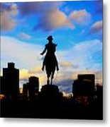 George Washington Statue - Boston Metal Print by Joann Vitali