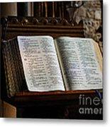 Bible Open On A Lectern Metal Print