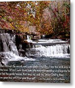 Bible Verse And Inspirational Greeting Card Autumn Fine Art Photography Prints And Posters. Metal Print