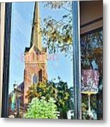 Biblion Used Books Reflections 3 - Lewes Delaware Metal Print
