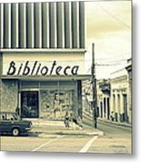 Biblioteca Cubana Metal Print