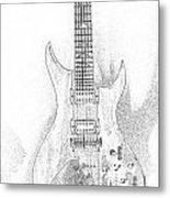 Bich Electric Guitar Sketch Metal Print
