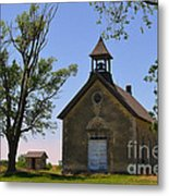 Bichet School In Marion County In Kansas Metal Print