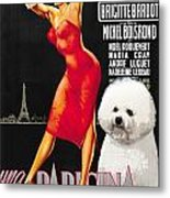 Bichon Frise Art - Una Parigina Movie Poster Metal Print