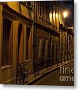 Bicycle And Empty Street Metal Print